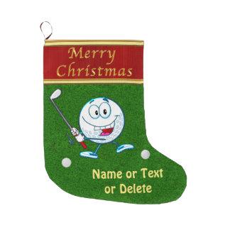 Calcetín Navideño Grande Medias divertidas personalizadas del golf de las