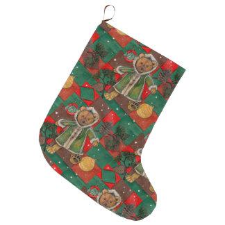 Calcetín Navideño Grande Mismo peluche del navidad de Beary