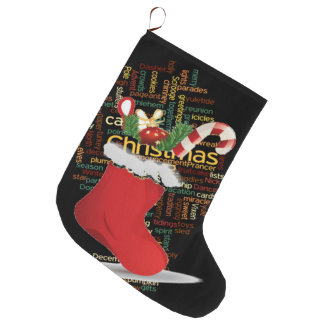 Calcetín Navideño Grande Navidad de encargo que almacena con un bastón de