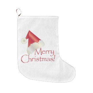 Calcetín Navideño Grande Navidad del oro blanco