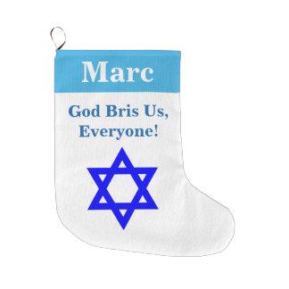 Calcetín Navideño Grande Navidad judío