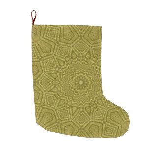 Calcetín Navideño Grande Navidad Kwanzaa de la mandala del oro y de la