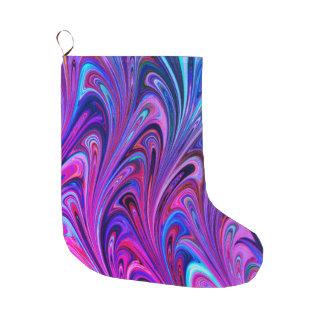 Calcetín Navideño Grande Navidad que almacena bonito colorido abstracto del