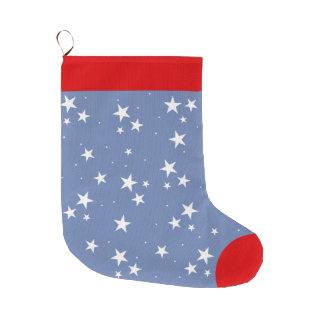 Calcetín Navideño Grande Papá Noel personalizado Nite estrellado estrellado