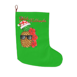 Calcetín Navideño Grande Piña del navidad de Mele Kalikimaka