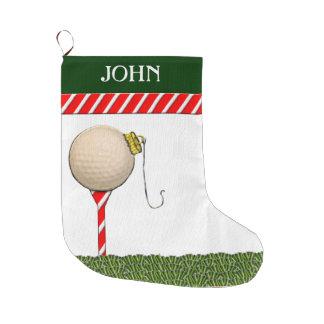 Calcetín Navideño Grande Regalos personalizados del navidad del golf