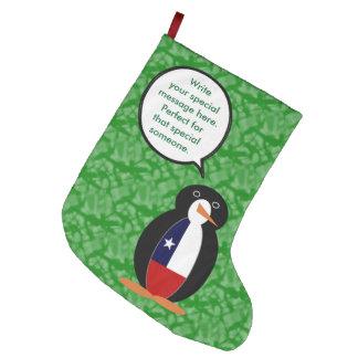 Calcetín Navideño Grande Sr. chileno Penguin del día de fiesta