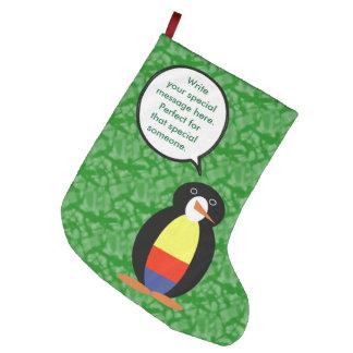 Calcetín Navideño Grande Sr. colombiano Penguin del día de fiesta