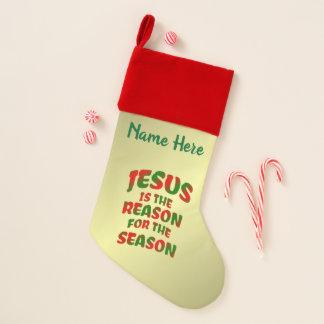 Calcetín Navideño Jesús es razón de la media personalizada estación