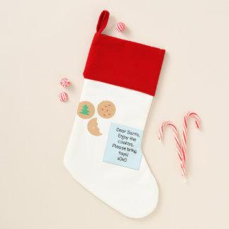 Calcetín Navideño Las estimadas galletas de Santa satisfacen traen
