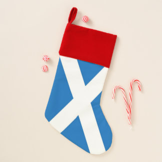 Calcetín Navideño Medias del navidad con la bandera de Escocia