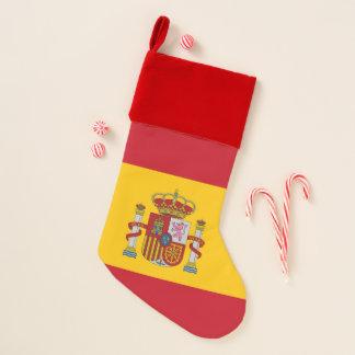 Calcetín Navideño Medias del navidad con la bandera de España