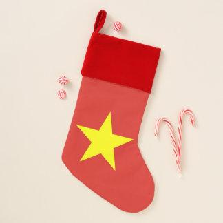 Calcetín Navideño Medias del navidad con la bandera de Vietnam