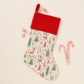 Calcetín Navideño Modelo dulce del navidad con los caracteres del