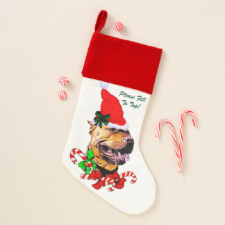 Calcetín Navideño Navidad americano de Terrier de pitbull