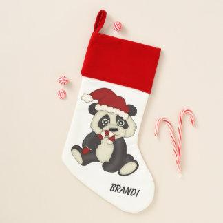 Calcetín Navideño Navidad del bastón de caramelo del oso de panda