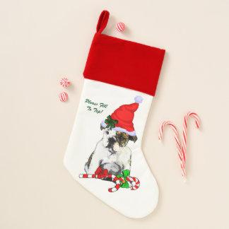 Calcetín Navideño Navidad inglés del perrito del dogo