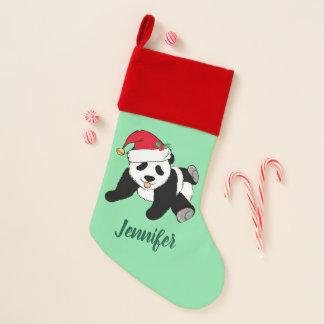 Calcetín Navideño Oso de panda lindo del navidad