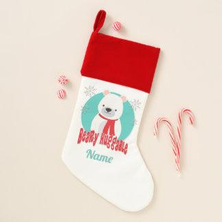 Calcetín Navideño Oso Huggable del navidad del invierno de Beary
