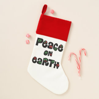 Calcetín Navideño Paz en navidad de la tierra