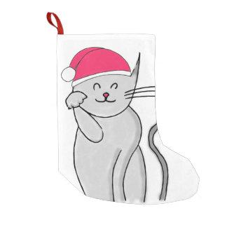 Calcetín Navideño Pequeño Almacenamiento afortunado del navidad del gato