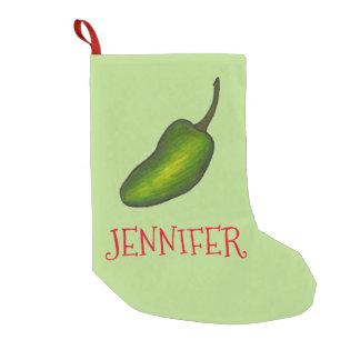 Calcetín Navideño Pequeño Almacenamiento candente verde del navidad de la