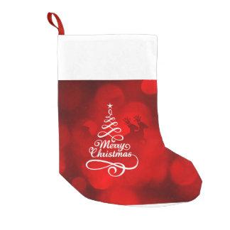 Calcetín Navideño Pequeño almacenamiento de las Felices Navidad