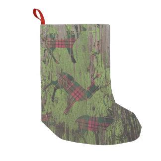 Calcetín Navideño Pequeño almacenamiento de madera del navidad del día de