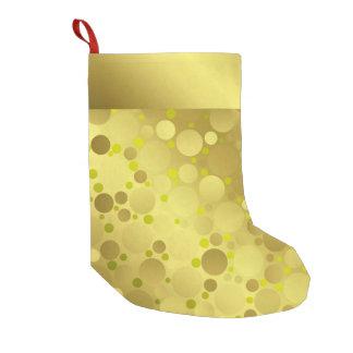 Calcetín Navideño Pequeño almacenamiento de oro del navidad de las bolas