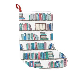 Calcetín Navideño Pequeño Almacenamiento del navidad de la biblioteca