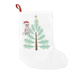 Calcetín Navideño Pequeño Almacenamiento del navidad del búho y del árbol de