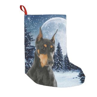 Calcetín Navideño Pequeño Almacenamiento del navidad del Doberman