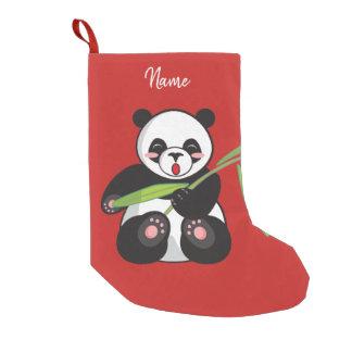 Calcetín Navideño Pequeño Almacenamiento del navidad. Panda.
