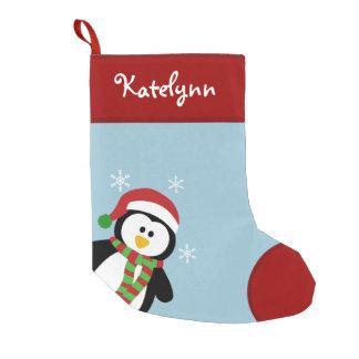 Calcetín Navideño Pequeño Almacenamiento personalizado pingüino lindo del