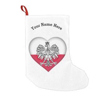 Calcetín Navideño Pequeño Almacenamiento polaco del navidad del amor