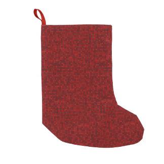 Calcetín Navideño Pequeño Almacenamiento rojo del navidad del pixel