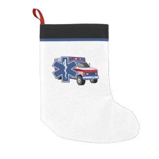 Calcetín Navideño Pequeño Ambulancia del paramédico el ccsme de EMT