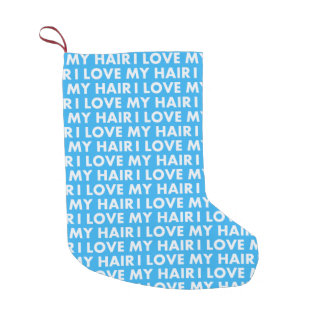 Calcetín Navideño Pequeño Amor del azul I mi recorte intrépido del texto del