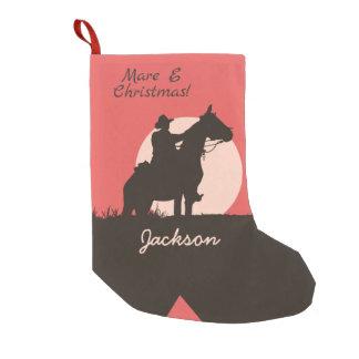 Calcetín Navideño Pequeño Bota de la silueta del vaquero del navidad de la