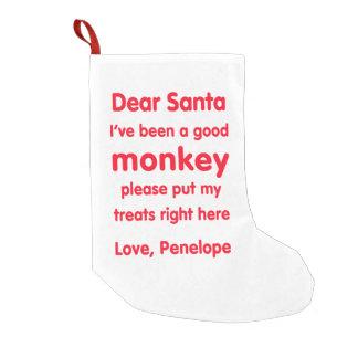 Calcetín Navideño Pequeño Buen almacenamiento del navidad del mono de