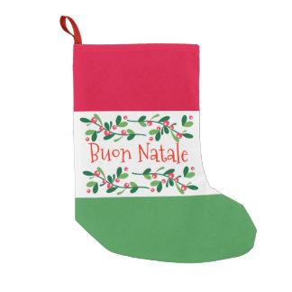 Calcetín Navideño Pequeño Buon Natale (Felices Navidad)