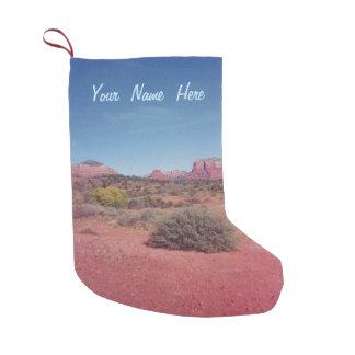 Calcetín Navideño Pequeño Desierto Vista personalizada