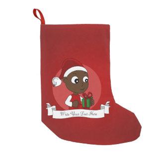 Calcetín Navideño Pequeño Dibujo animado del bebé del navidad