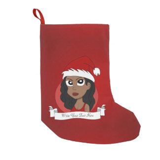 Calcetín Navideño Pequeño Dibujo animado del chica del navidad