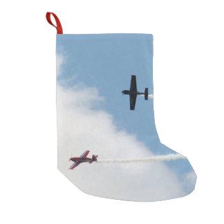 Calcetín Navideño Pequeño Duelo del aeroplano del ala fija de Airshow