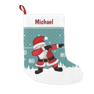 Calcetín Navideño Pequeño El frotar divertido de Papá Noel