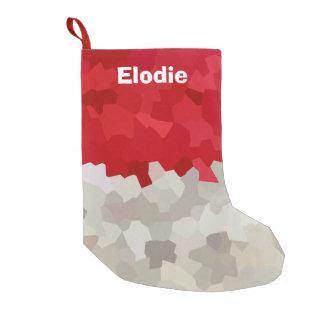 Calcetín Navideño Pequeño Extracto rojo y blanco del día de fiesta de Santa