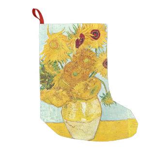 Calcetín Navideño Pequeño girasol de Vincent van Gogh, impresionista p del