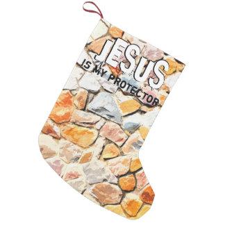 Calcetín Navideño Pequeño JESÚS me protege