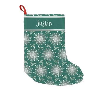 Calcetín Navideño Pequeño La media del verde esmeralda del navidad